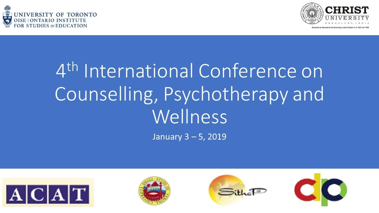 Third International Conference on Counselling, Psychotherapy and